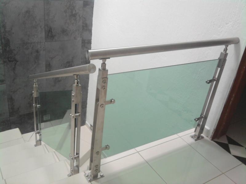 Barandales escaleras de acero inoxidable con cristal 3 - Escaleras de cristal templado ...